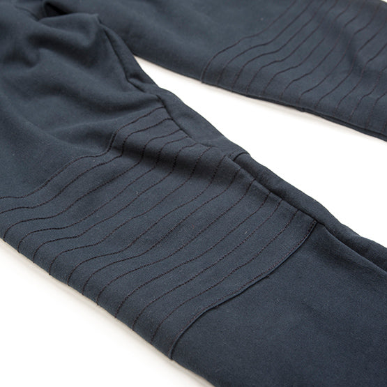 Navy Tailored Moto Joggers - Sweat Tailor
