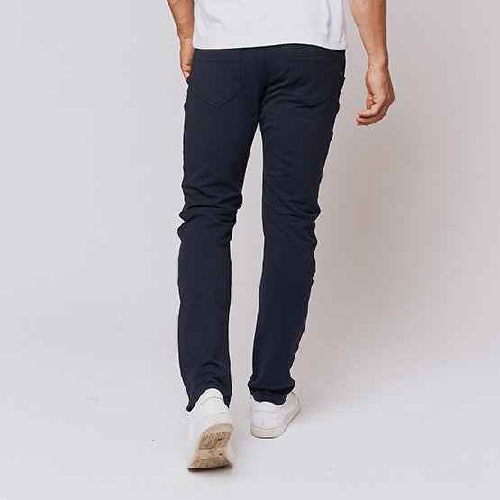 Navy 5 Pocket Pants - Sweat Tailor