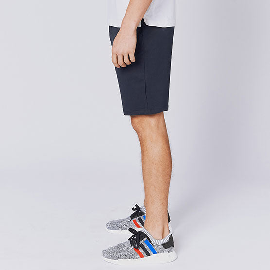 Navy Everywear Stretch Knit Chino Shorts - Sweat Tailor