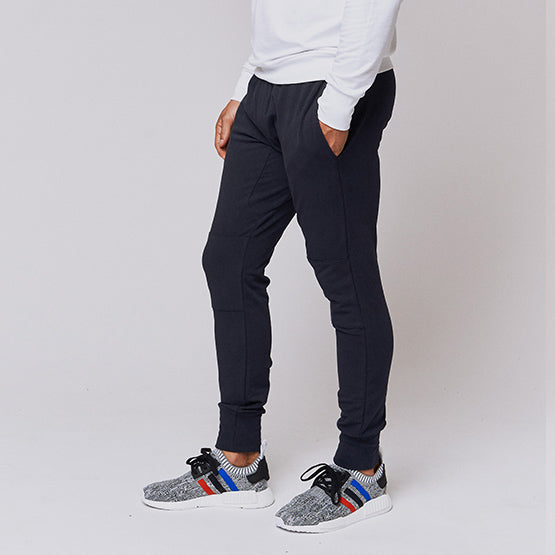 Navy Stretch Tailored Joggers - Sweat Tailor