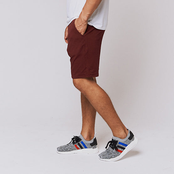 Oxblood Stretch French Terry Short