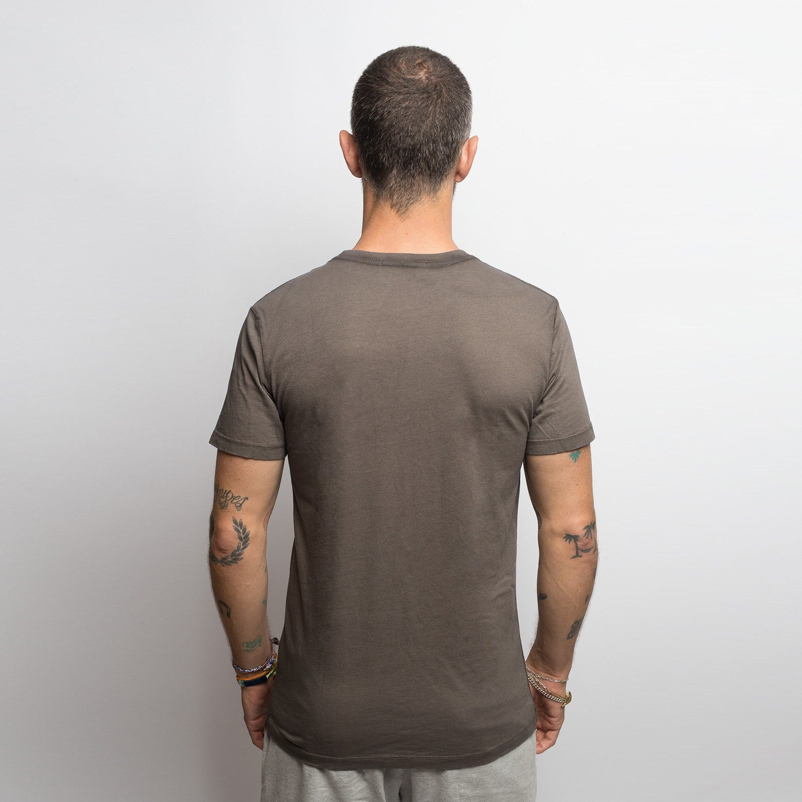 Dusty Grey Salt Washed Crew - Sweat Tailor