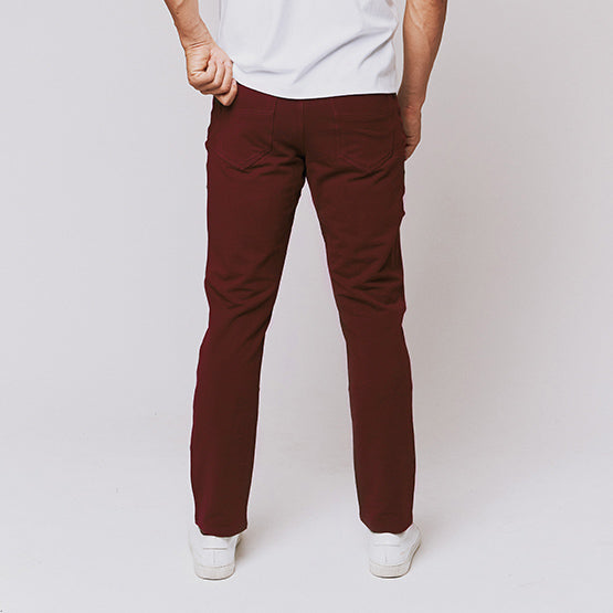 Oxblood 5 Pocket Pants - Sweat Tailor