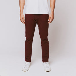 Oxblood 5 Pocket Pants