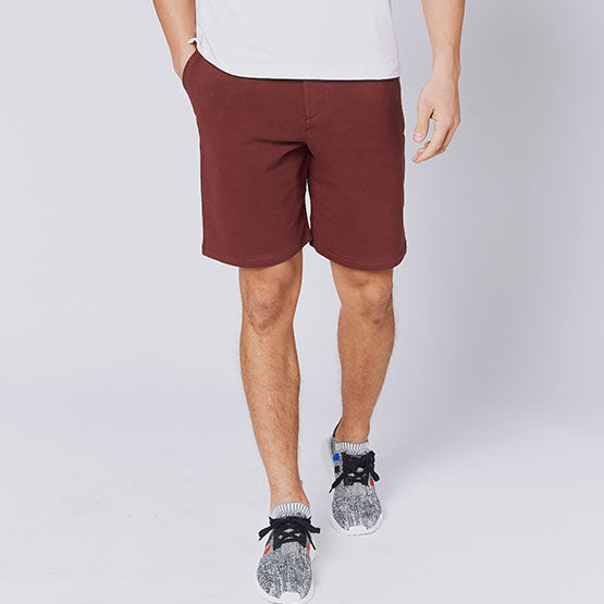 Oxblood Everywear Stretch Knit Chino Shorts - Sweat Tailor