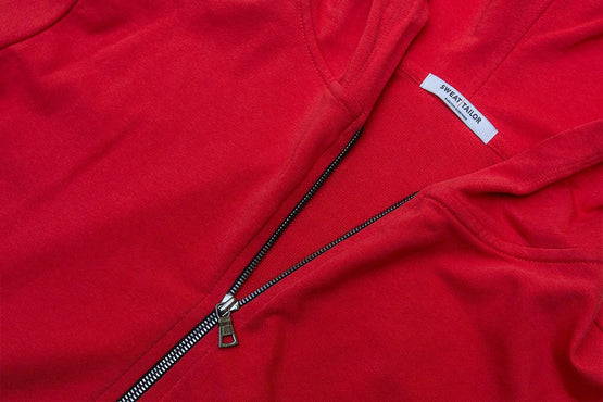 Red Everywear Stretch Zip Hood