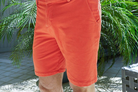 Salmon Everywear Stretch Knit Chino Shorts
