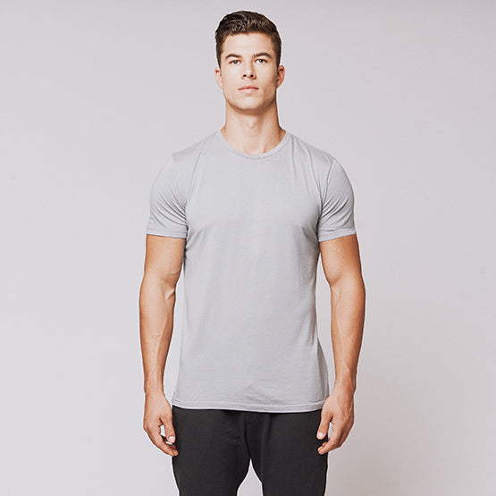 Slate Grey Supima Blend Crew - Sweat Tailor