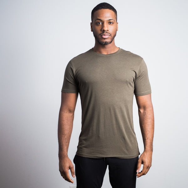 Dark Green Bamboo Cotton Crew - Sweat Tailor