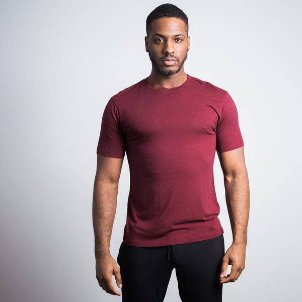 Oxblood Bamboo Cotton Crew