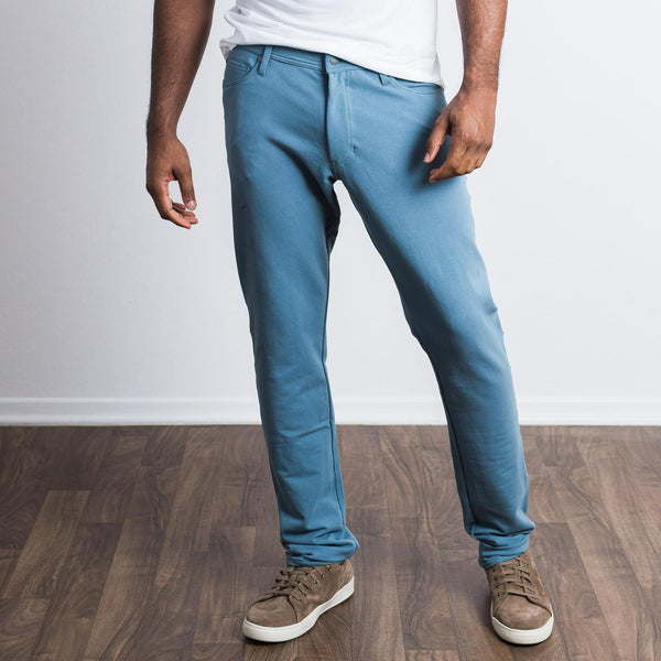 Medium Blue 5 Pocket Pants - Sweat Tailor