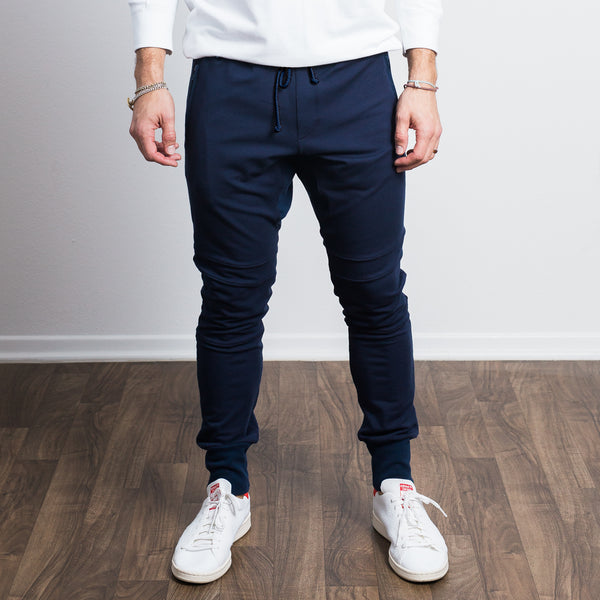 Navy Stretch Tailored Joggers