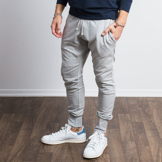 Heather Grey Stretch Tailored Joggers