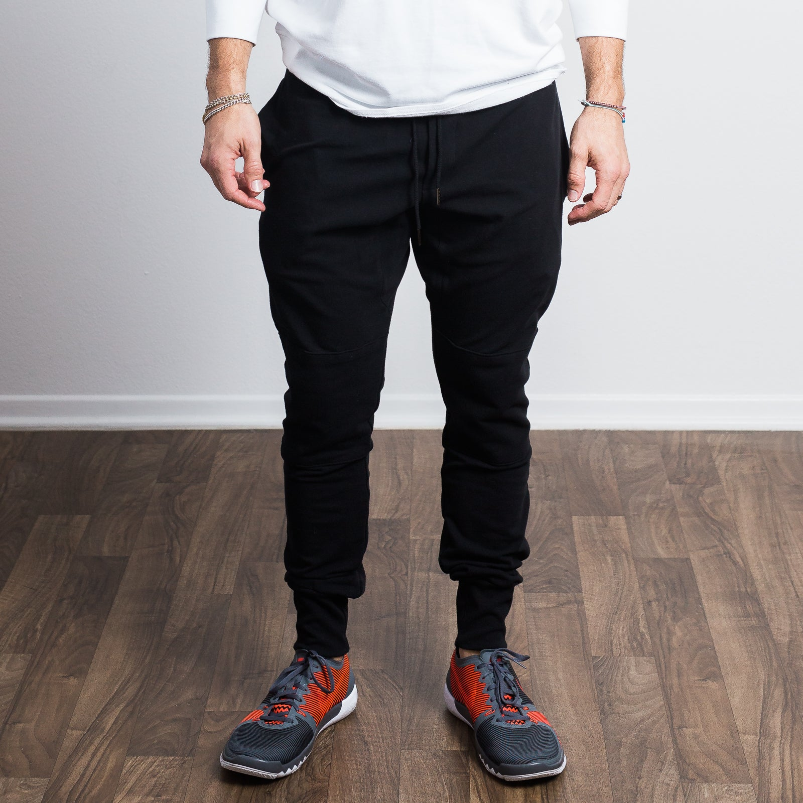 Black Stretch Tailored Joggers