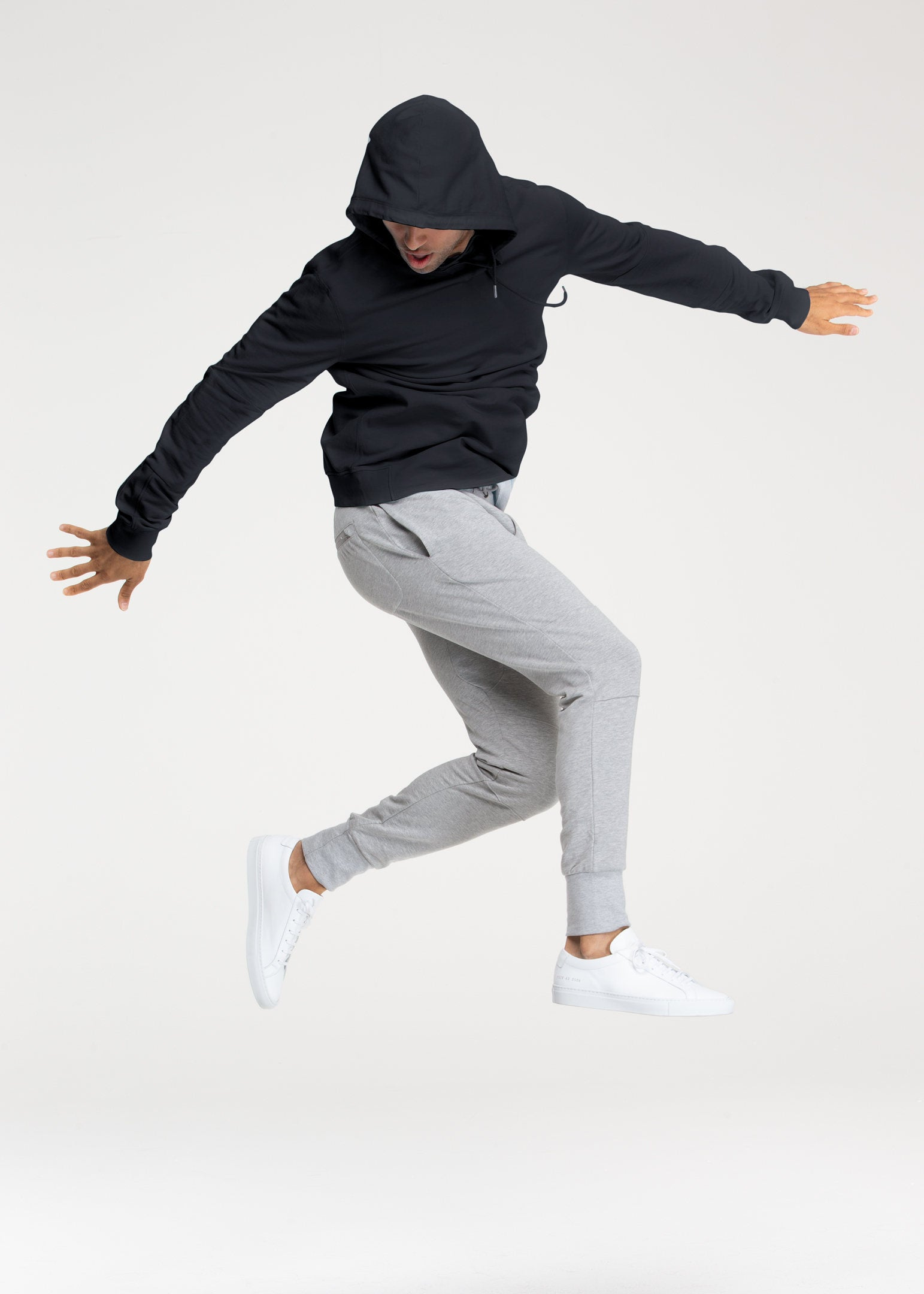Navy Stretch Pullover Hoodie - Sweat Tailor