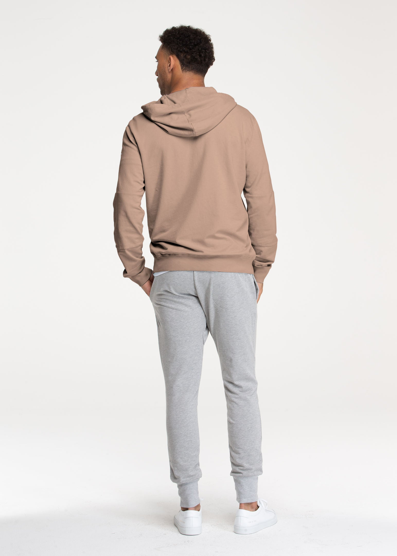 Pearl Blush Stretch Pullover Hoodie - Sweat Tailor