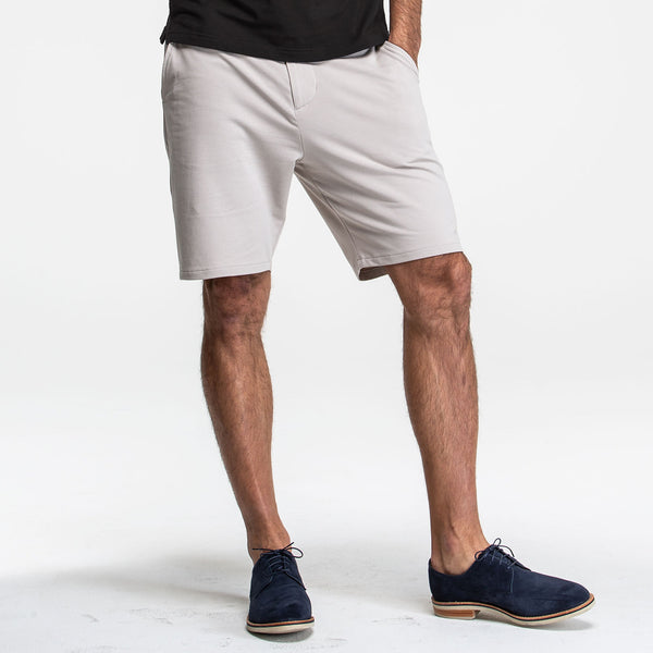 Deeper Stone Stretch Knit Chino Shorts - Sweat Tailor