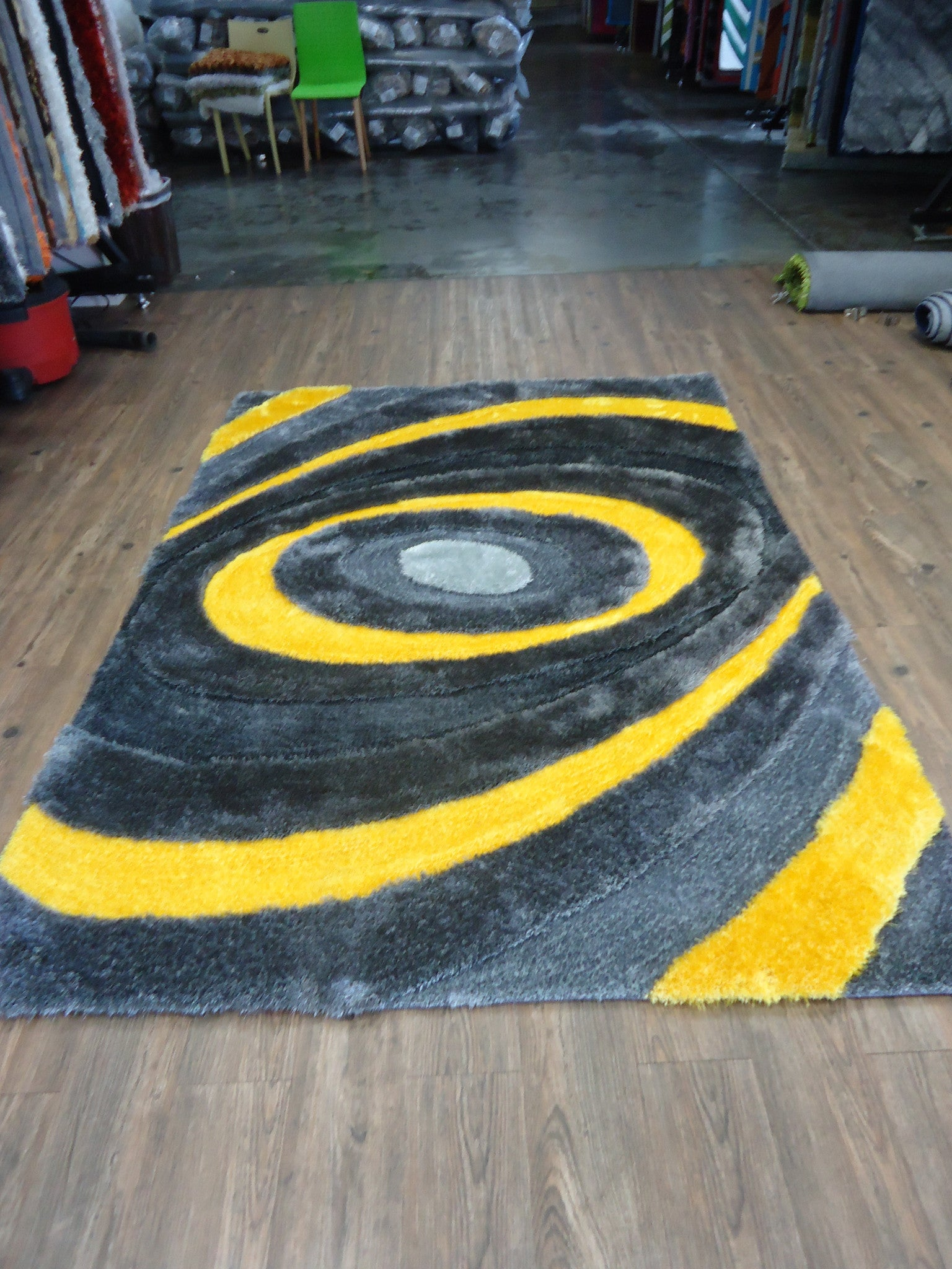 handmade gray u0026 yellow 3 dimensional shag area rug with hand carved design 4u0027 x