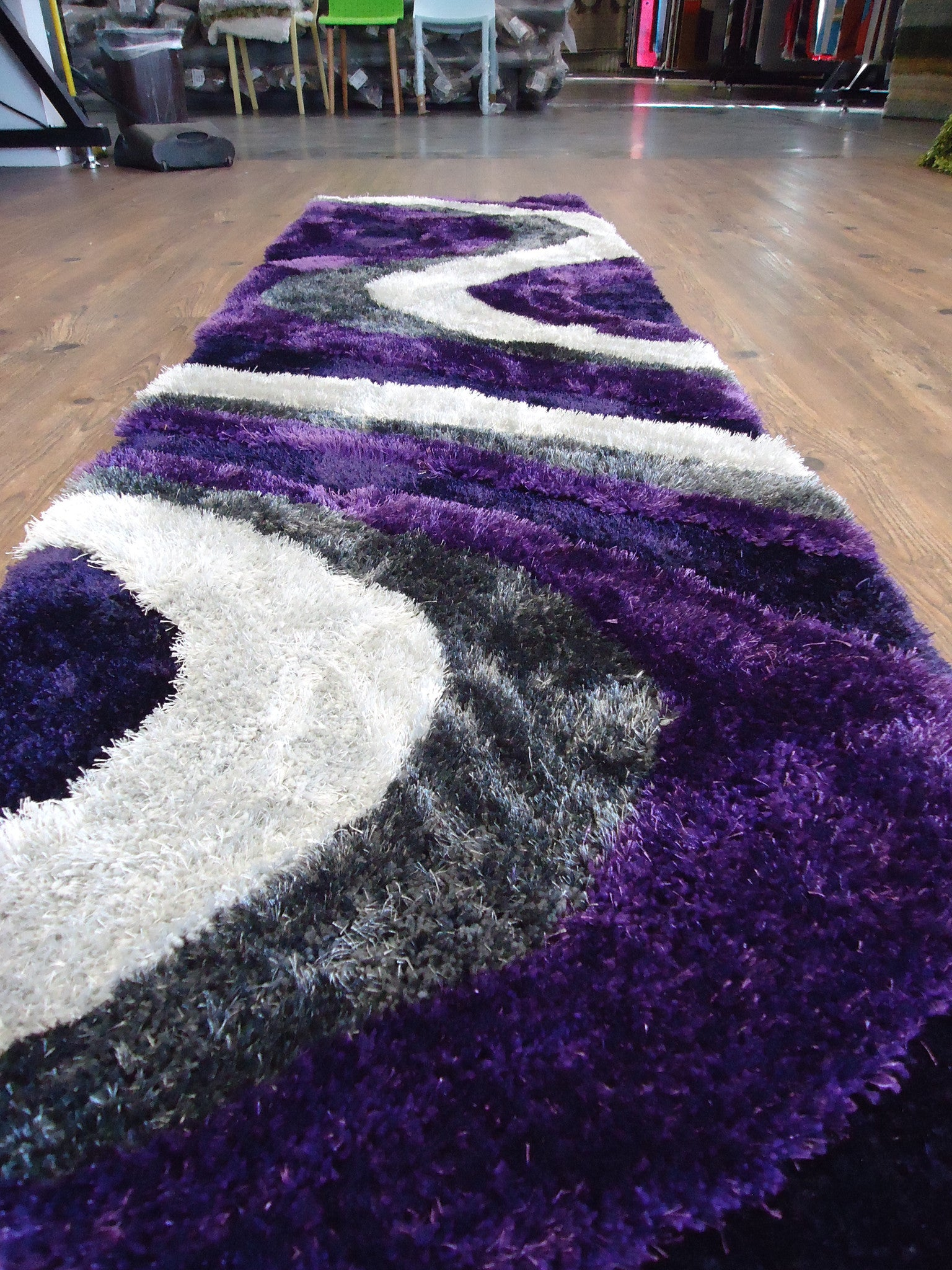 shaggy indoor area rug in grey with purple area rug rug addiction rug
