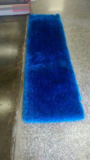 Handmade Electric Blue Shag Area Rug (5u0027 U2026