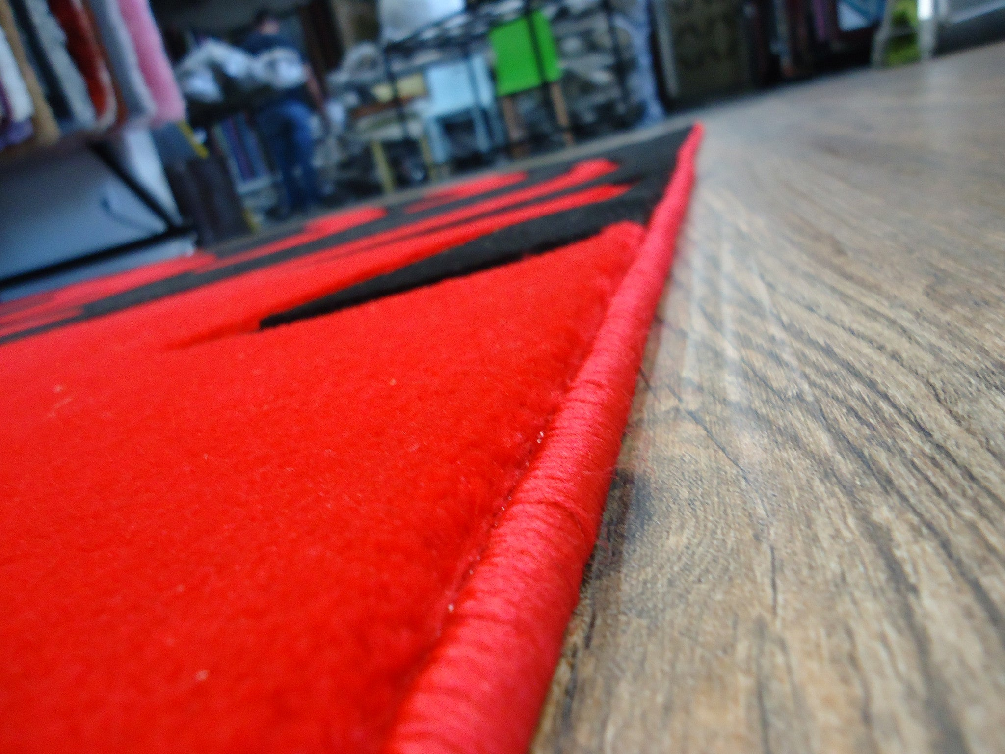 Black And Red Area Rugs new red with black geometric area rug hand carved - rug addiction