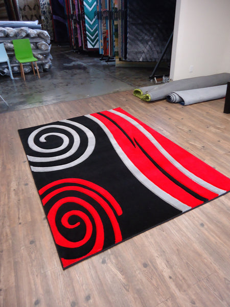 New Black With Floral Red Area Rug Hand Carved Rug Addiction