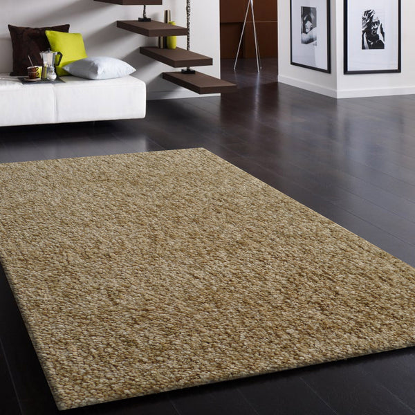 Hand-tufted 2Tone Beige Thick Plush Shag Area Rug