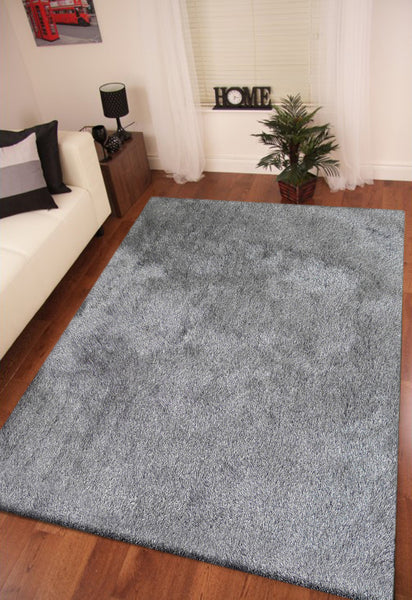 2 Tone Gray Long Soft Durable Shag Area Rug Rug Addiction