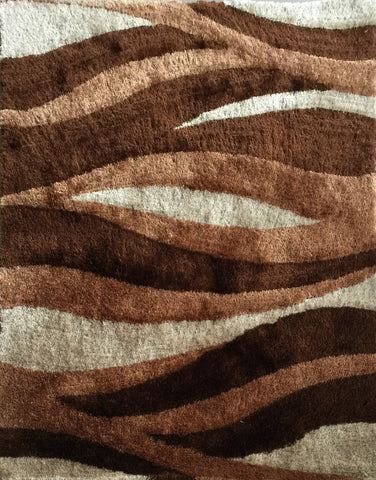 Beautiful Shag Area Rug for Any Indoor Bedroom Color Brown