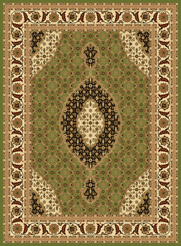Antique Persian Empire Traditional Rug In Green