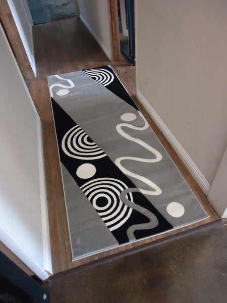 Hand Carved Contemporary Modern Area Rugs With Geometric