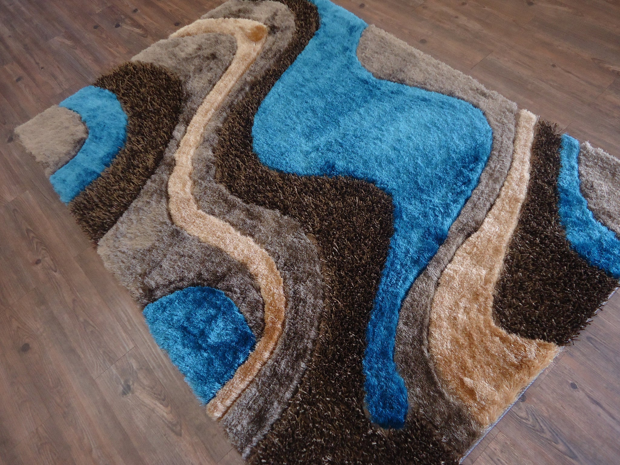 blue shag rug brown with blue shag rug by rug addiction 11071