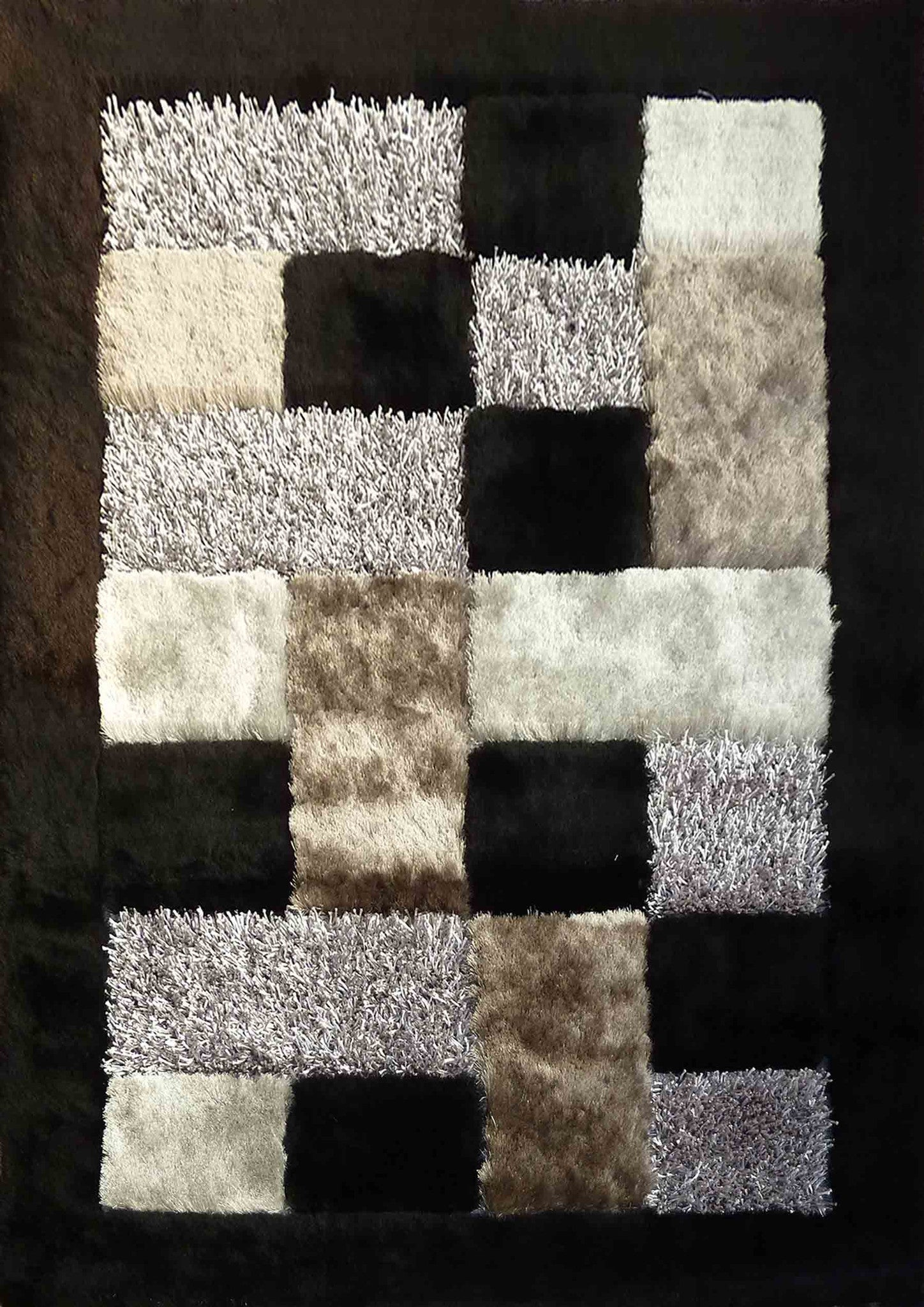rug shag simple and black gray rugsville solid elegant grey