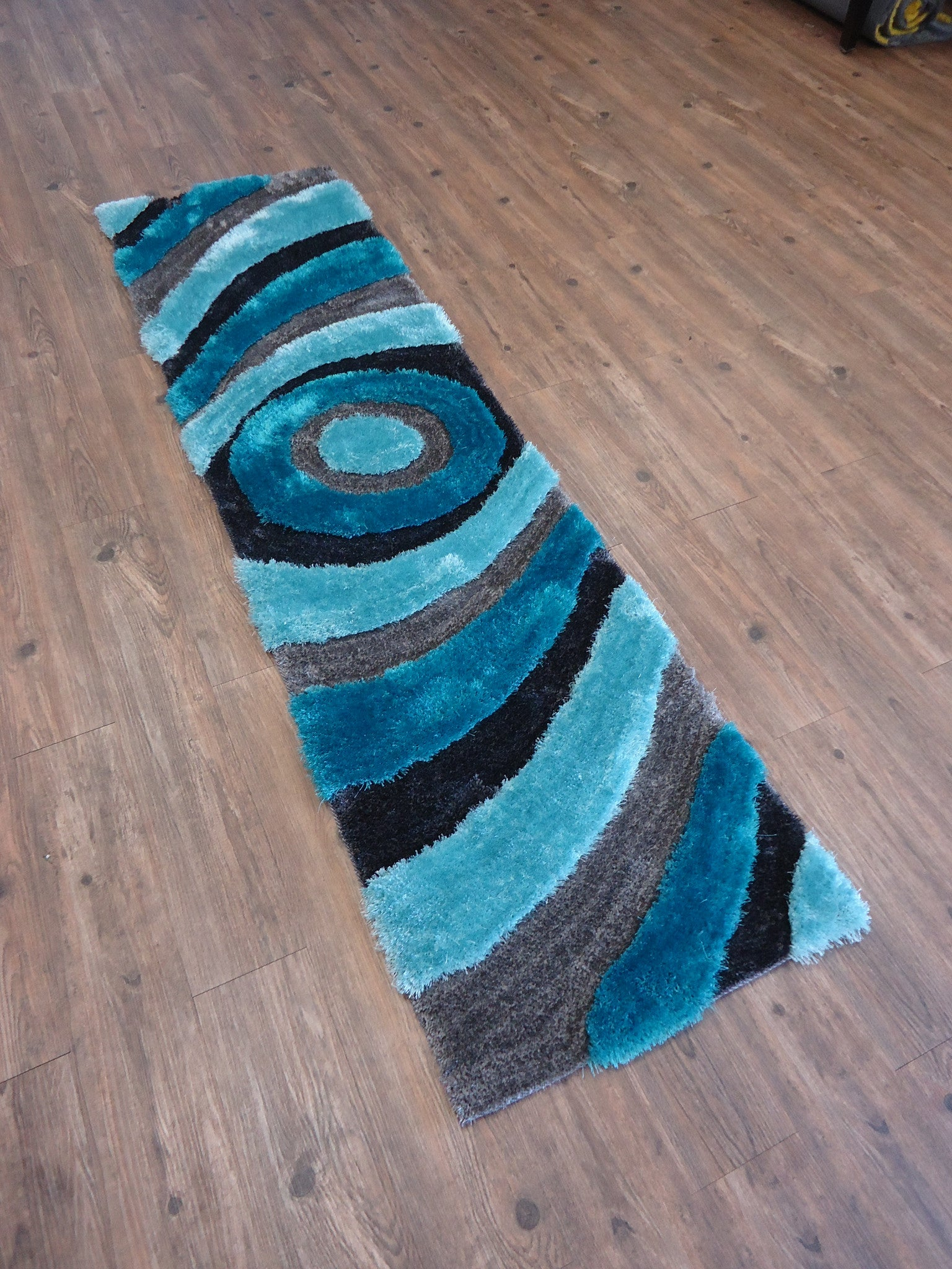 ... Handmade Gray With Blue Dimensional Shag Area Rug With Hand Carved  Design , Area Rug ...