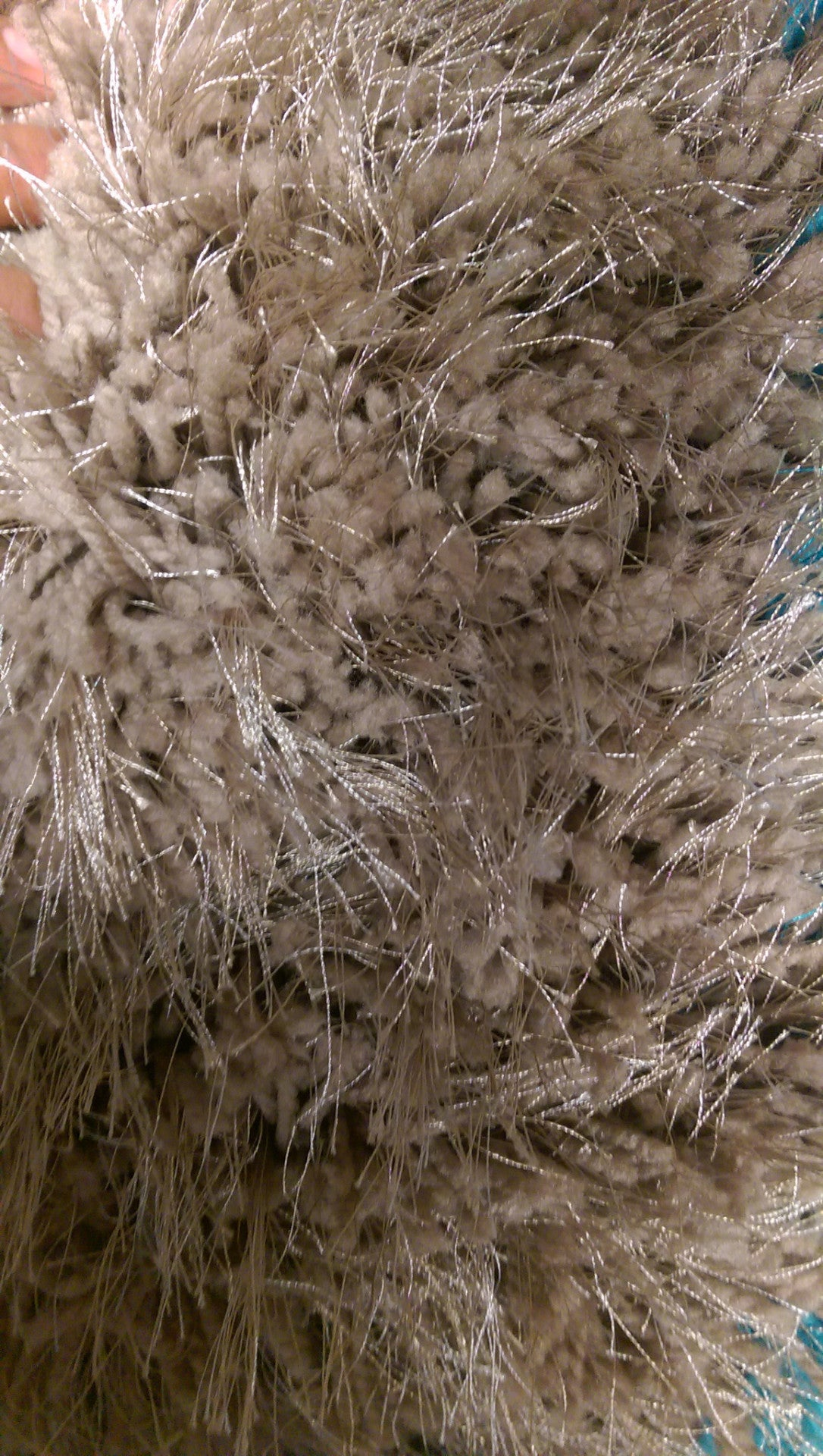 Latte Beige Brown 2 Inch Long Pile Shag Rug Exact Size 5