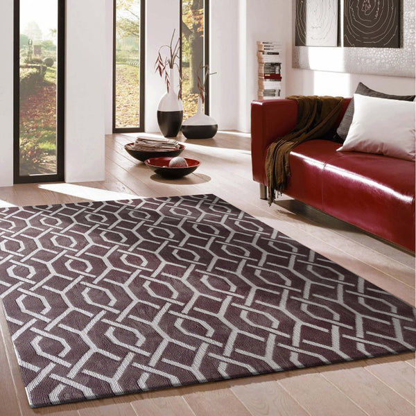 Modern Contemporary Soft Brown Bedroom Area Rug