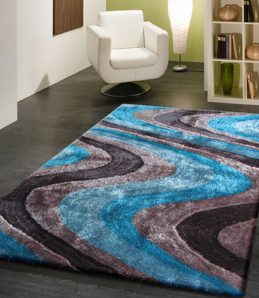 Turquoise Area Rug Amazon Com: Shaggy Indoor Area Rug In Grey With Blue