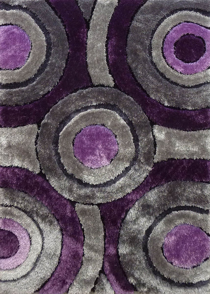 Shaggy Vibrant Gray Amp Purple Hand Tufted Area Rug Rug