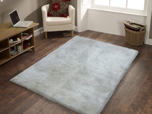 Handmade White Solid Soft Amp Fuzzy Shag Area Rug Rug