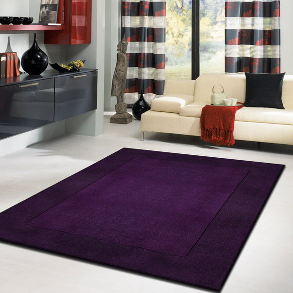 Walmart Purple Rug: Solid Blue/Violet Indoor Area Rug