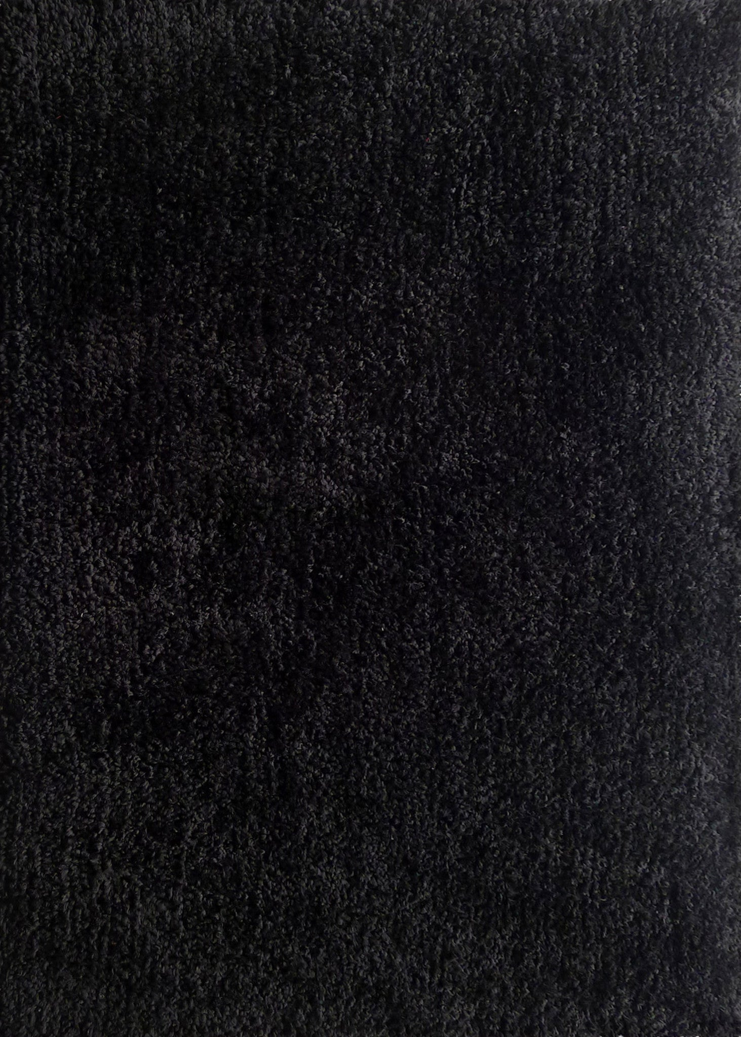 Contemporary Black Rug Texture Solid Thick Plush Shag Area X Ft N To Decor