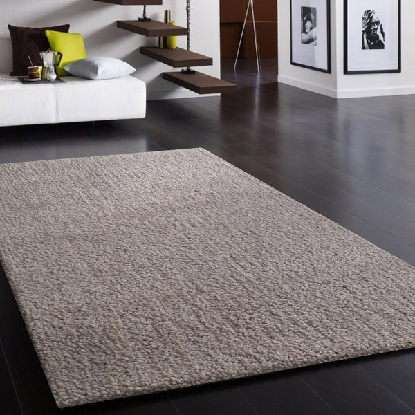 Hand Tufted Solid Silver Thick Plush Shag Area Rug Rug