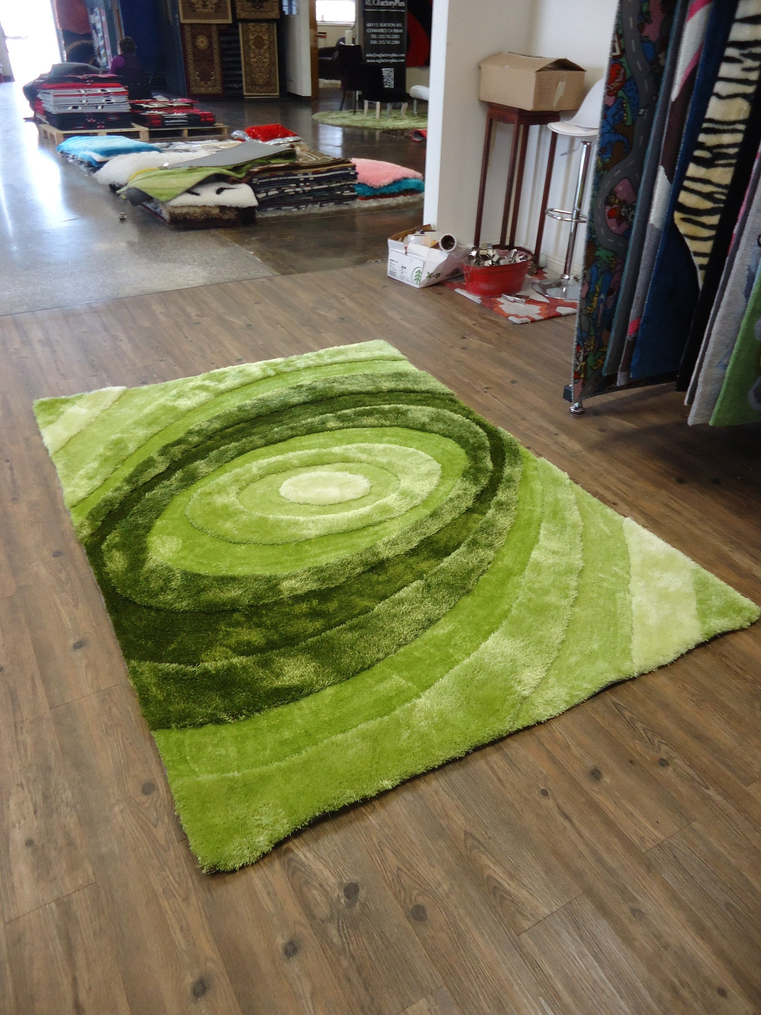 Wonderful ... Handmade Vibrant Green 3 Dimensional Shag Area Rug With Hand Carved  Design 5 X 7 Ft ...