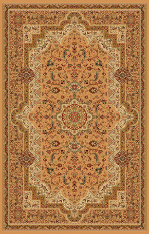 2-Piece Set | Beige Persian Empire Traditional Rugs with Rug Pad