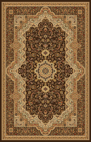 2-Piece Set | Antique Persian Brown Traditional Rugs with Rug Pad
