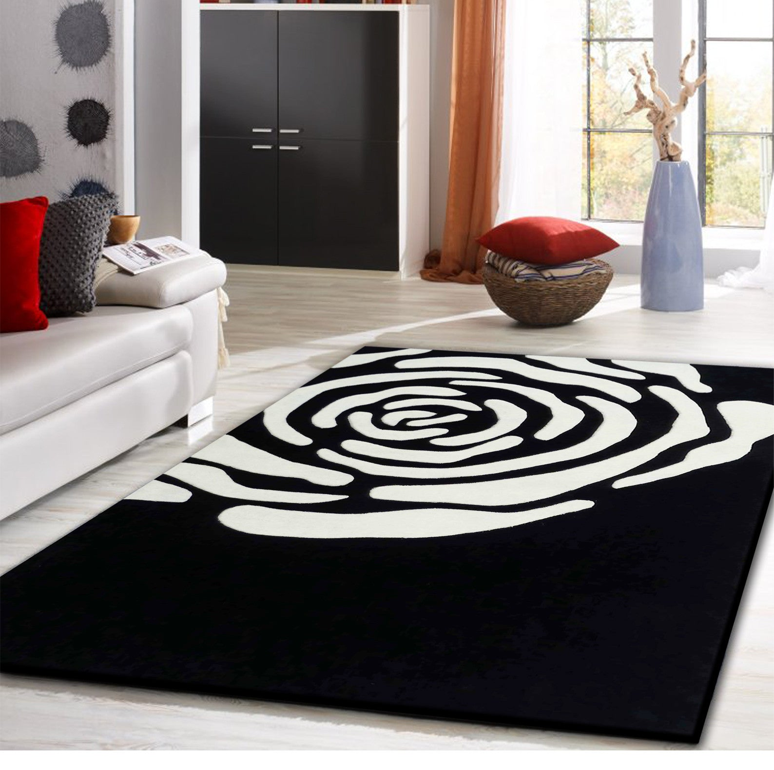 Excellent Floral Transitional Black Indoor Area Rug Download Free Architecture Designs Crovemadebymaigaardcom