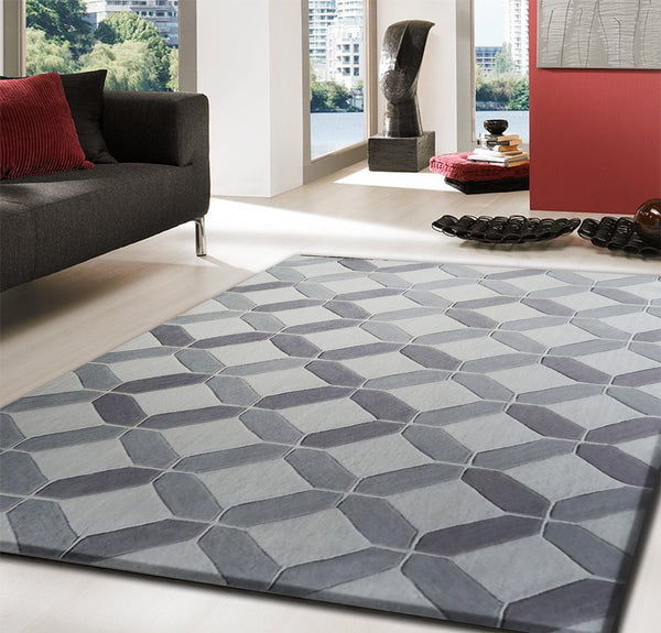 Madrid Taupe Beige Ultra Modern Living Room Furniture 3: Beige Touch Of Grey Contemporary Indoor Area Rug