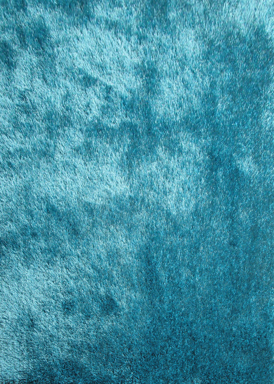 Solid Turquoise Shag Rug Rug Addiction