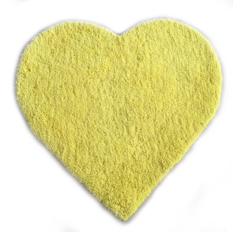 XOXO YELLOW HEART SHAPE AREA RUG