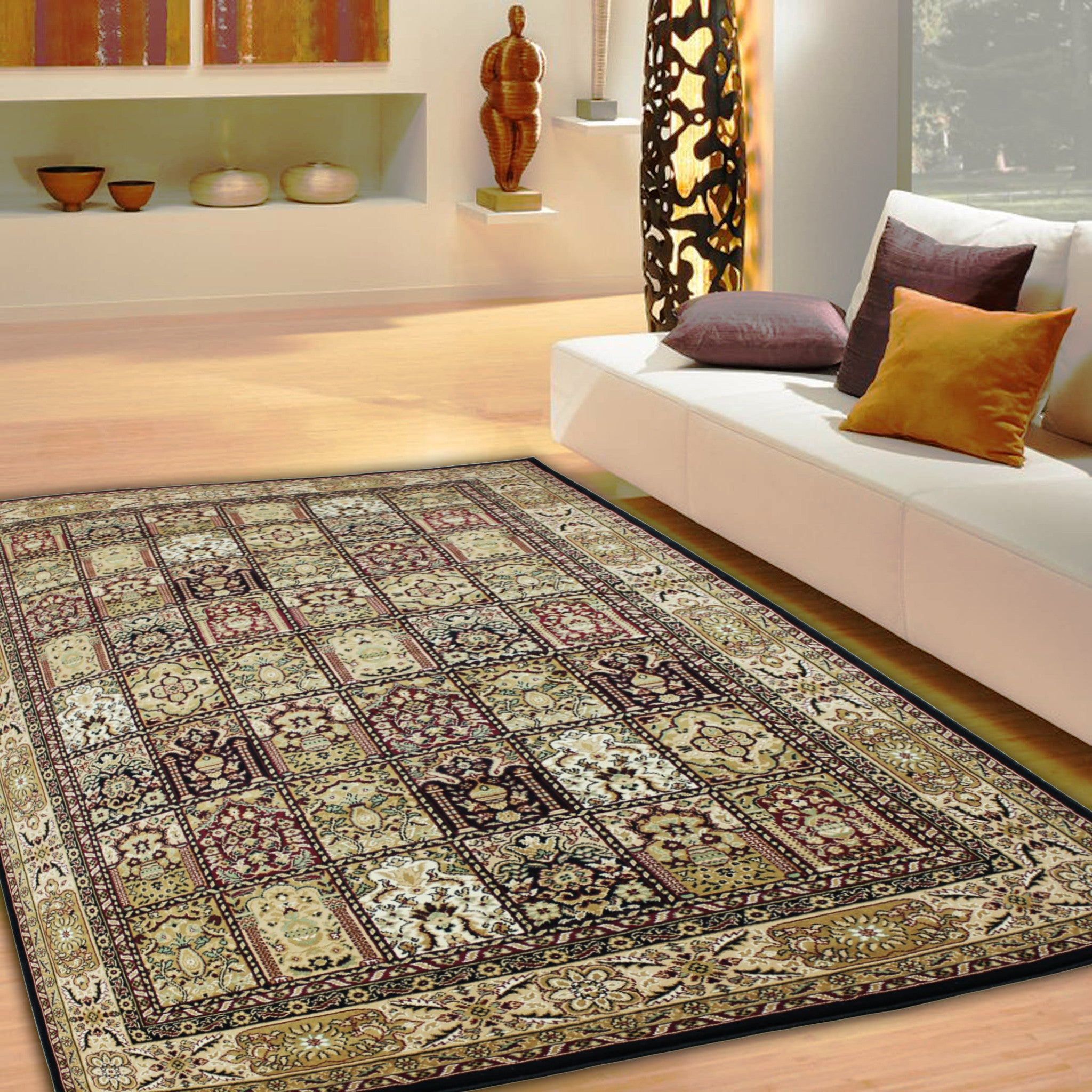 Rugs · Rugs · 2 Piece Set | Traditional Antique Persian Black Brown Rugs  With Rug Pad , 3